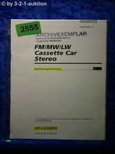 Sony Bedienungsanleitung XR C430RDS Car Stereo (#2555)