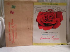 1947 TOURNMENT OF ROSES PROGRAM WITH MAILER ENVELOPE