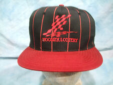 INDIANA HOOSIER LOTTERY BASEBALL HAT: ONE SIZE FITS ALL  RED & BLACK  NEW!!