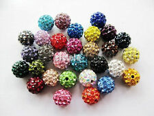 20 High Quality Czech Crystal Rhinestones Pave Clay Round Disco Ball Spacer Bead