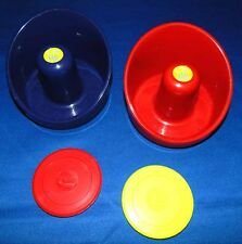 "Two Ice Games Air Hockey Table Goalie Mallets & Two Ice Games 2 3/4"" HD Pucks"
