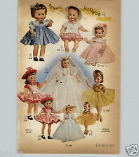 1959 PAPER AD 3 PG Madame Alexander American Character Baby Doll Dolls Toodles