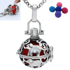 Hot Antique Silver Elephant Locket Necklace Aromatherapy Essential Oil Diffuser