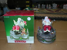 2003 Home For The Holidays Musical Wind Up Christmas Santa Claus Is Coming Town