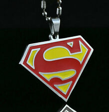DC SUPERMAN Steel Chain Pendant Fashion Necklace Child Boy Man Lady Xmas LZ01