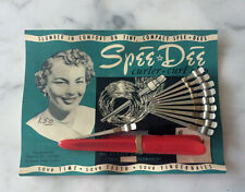 1950s Rare Pin Curls Curler Roller Mid-Century 50s Dress Atomic Era