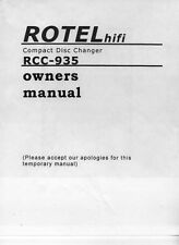 Rotel RCC-935 CD Changer Owners Manual