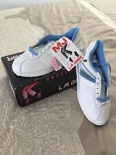 VERY RARE Michael Jackson LA Gear MJ Runner shoe white/blue size 8 new in box.