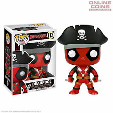 DEADPOOL - PIRATE EXCLUSIVE - FUNKO POP VINYL BOBBLE HEAD FIGURE - BNIB!!!