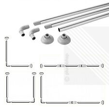 NEW Shower Curtain Rail Chrome - 4 Configurations | L-Shape / U-Shape / Straight