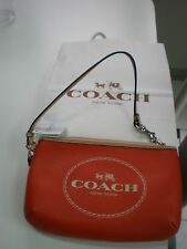 NWT COACH Horse and Carriage Medium Wristlet Wallet 51788 MAKE UP BAG RED