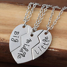 3Pcs Set Big Middle Little Family Member Gifts Sister Boy Girl Pendant Necklace