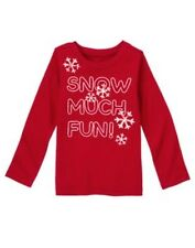 New Gymboree red l/s shirt girl 5-6 snow Penguin Chalet