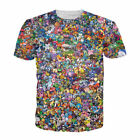 Pokemon Pikachu Eevee Collage 3D Print Shirt Man Woman Short Tee Top T-shirt