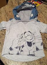 Disney cute baby boys grey & Denim hoody with Tigger 3 -6 months Bargain