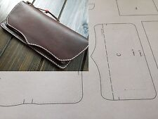 Leather craft Patterns DIY Designs Long Wallet Paper Template Drawing Tools 8001