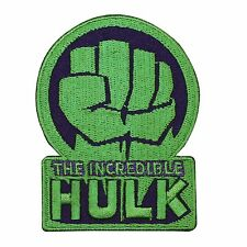 "Marvel Superhero ""The Incredible Hulk"" Logo Iron-On Craft Apparel Applique Patch"