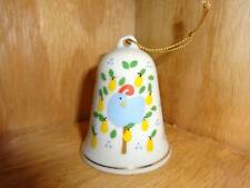 1989 LVC 1988 Bell Partridge in a Pear Tree Ornament Holiday Porcelain