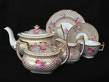 Spode Copeland Tiffany 12 People Tea Service Cup Saucer Salad Plate Pot Roses