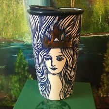 STARBUCKS 2016 SIREN Blue Mermaid Gold Crown Anniversary TUMBLER Traveler Mug