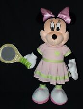 "Disney Minnie Mouse 27"" Tennis Racket Plush Pink Dress Gemmy Rare"