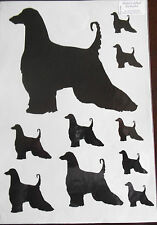Afghan hound vinyl stickers/ car decals/ window decals