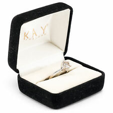1.1 ct Diamond Solitaire 14 kt White Gold Engagement Ring