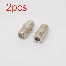 2x F-Type Female to Female TV Cable Connector/ Joint/ Adapter F81 Coax Joiner