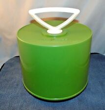 Vintage Disk Go Case Record Holder Avocado Green