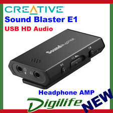 CREATIVE Sound Blaster E1 USB HD AUDIO and Headphone Amplifier