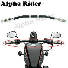 Black 1.0 Inch XL Sportster Zero Drag Bar  HandleBar For Harley 883 1200 Chopper