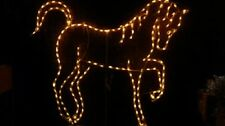 Fancy Christmas Horse Pony Outdoor LED Lighted Decoration Steel Wireframe