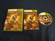 CAPTAIN AMERICA: SUPER SOLDIER Xbox 360 game COMPLETE! Tested & Works XB360