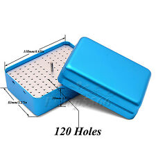 120 Holes Dental Burs Holder Stand Disinfection Box Endo Accessories Files Case