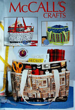 McCall's Pattern  7265 PROJECT TOTES sewing knitting crocheting craft tote bags