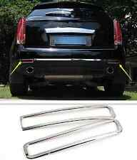 2pcs Chrome Rear Fog Light Lamp Cover Trim for Cadillac SRX 2010-2015