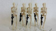 x5 Star Wars Episode 1 BATTLE DROIDS fm Theed Hanger Playset action figure EP1