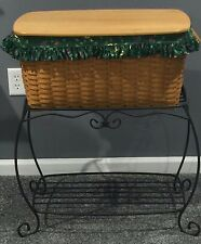 Longaberger Hostess Hope Chest Basket with Wrought Iron Stand 1998