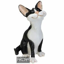 Pets with Personality Felix Black & White Cat Sitting Figurine NEW in Box 24650