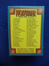 """~~ WOLVERINE """"FROM THEN 'TILL NOW"""" CARD SET II  ~ 1992 ~ MARVEL/COMIC IMAGES ~~"""