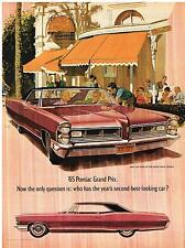 Vintage 1965 Magazine Ad Pontiac Who Has The Years Second Best Looking Car