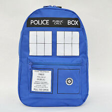 New Blue Doctor Who Tardis Police Box School Backpack Shoulder Bag Rucksack