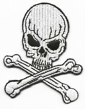 IRON ON PATCH - SKULL & CROSS BONES - BIKER - MORE PATCHES IN OUR SHOP