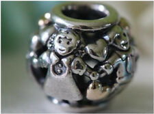 AUTHENTIC PANDORA SILVER CHARM BEAD 791040 family forever love kids with gold