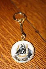 Horse Keychain Kentucky Derby Advertising Horse Shoe Souvenir USA Lucky Keychain
