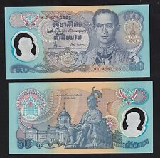 Thailand 50 Baht (1996) P99 Sign 66 Polymer 50th Anni. of Reign King Rama IX UNC