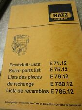 Hatz Diesel Spare Parts List