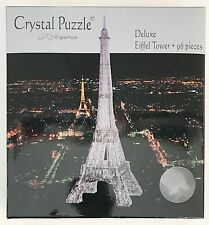 31698 BLACK EIFFEL TOWER 3D CRYSTAL PUZZLE JIGSAW 96 PIECES CHALLENGING DISPLAY