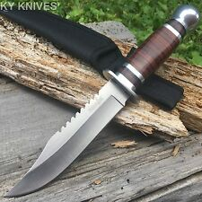"""SURVIVOR 10.5"""" Stainless Skinning Hunting Knife Wood Handle Bowie HK-782S"""