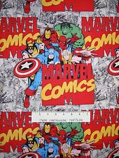 Marvel Immortals Hulk Iron Man Spiderman Comic - Camelot Fabrics YARD